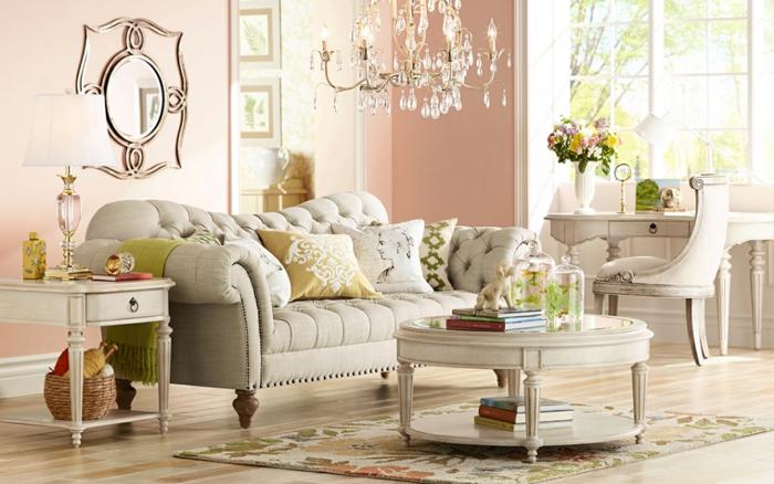 decoración vintage combinando blanco roto con rosa pastel vintaged.com